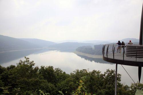 nature lake fog