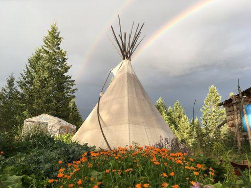 nature outdoors rainbow