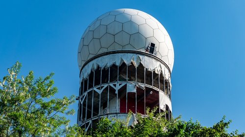 Teufelsberg is an abandoned radar station on the outskirts of Berlin Stock  Photo - Alamy