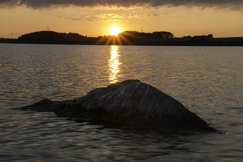 nature  dusk  lake