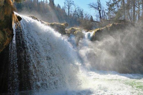 nature  landscape  water waterfall