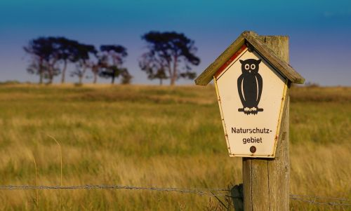 nature reserve unaffected sign