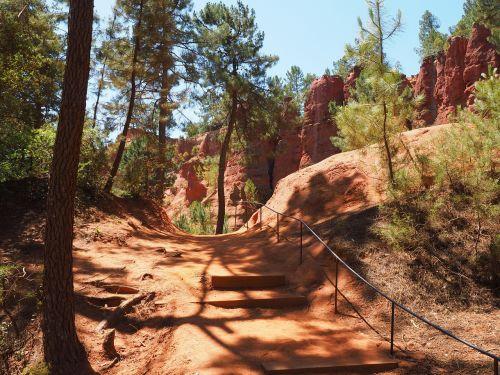 nature trail ocher trail away