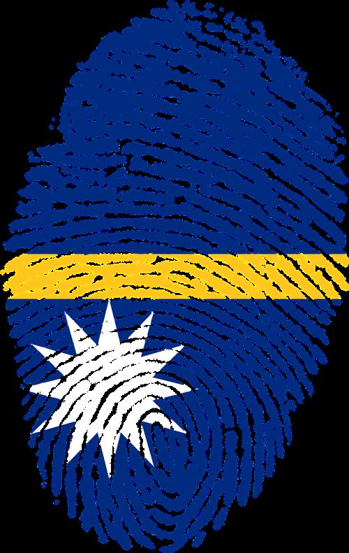 nauru flag fingerprint