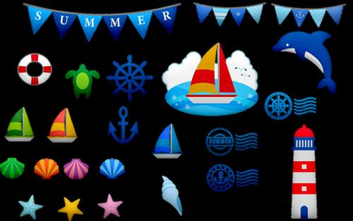 nautical clip art  nautical banner  bunting