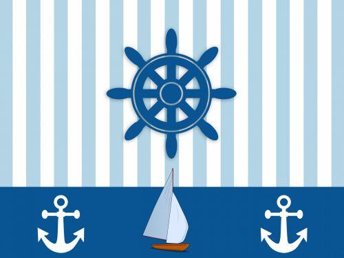 Nautical Ships Wheel Wallpaper