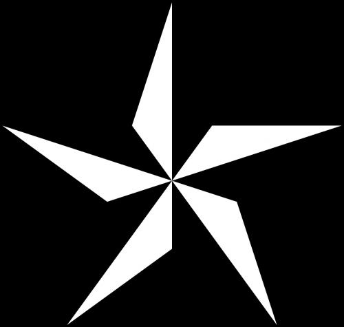 nautical star star shadow