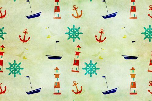 Nautical Wallpaper Vintage