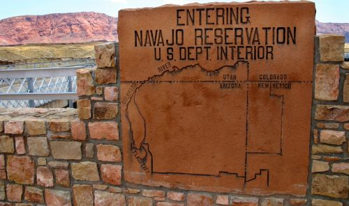 navajo reservation sign
