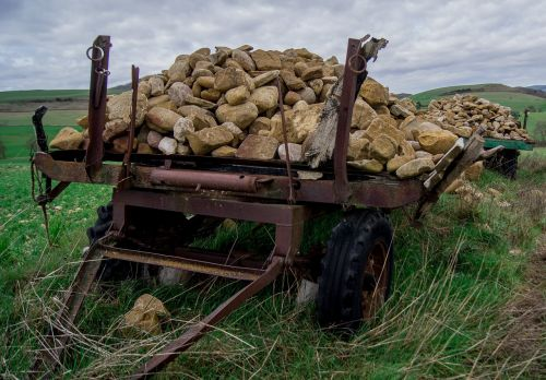 Navarre,darbas,laukas,sunkvežimis,priekaba,akmenys,apkrova,ratai
