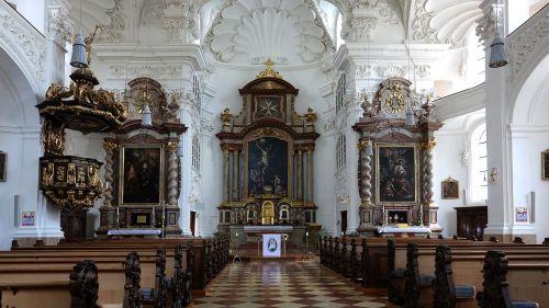 nave church pews altar
