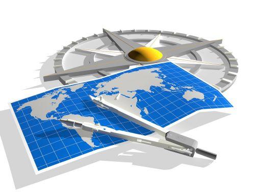 navigation compass map