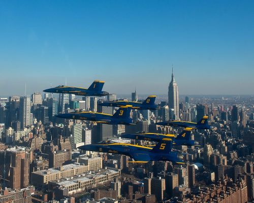 navy blue angels new york city aircraft
