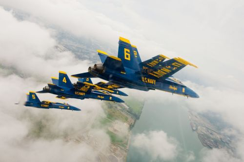 navy blue angels flying aircraft
