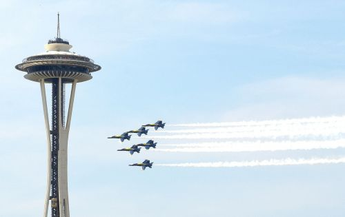 navy blue angels seattle aircraft