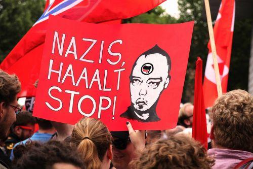 nazi demonstration shield