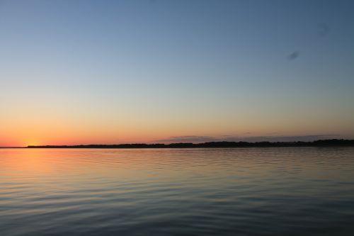 nebraska lake sunset