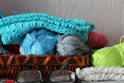 needlework yarn knitting