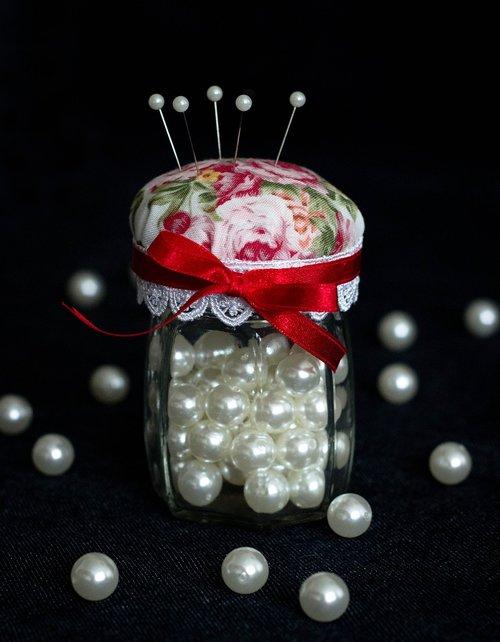 needlework  beads  needle