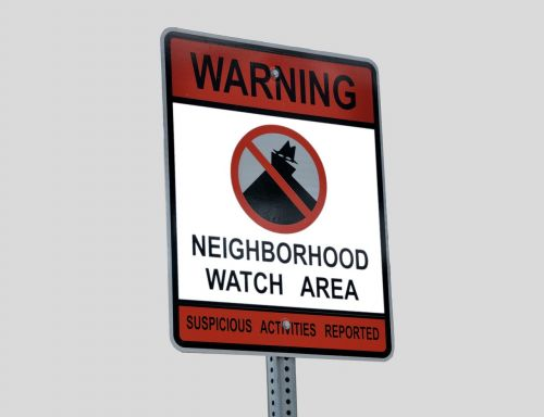neighborhood watch sign signage