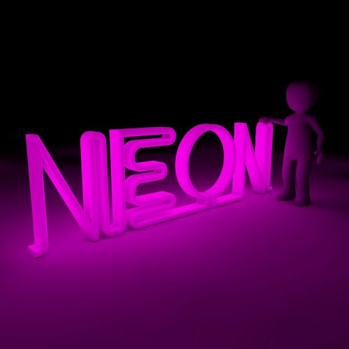 neon color light