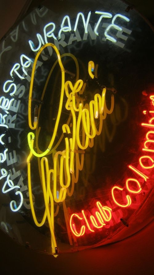 neon neon sign ad