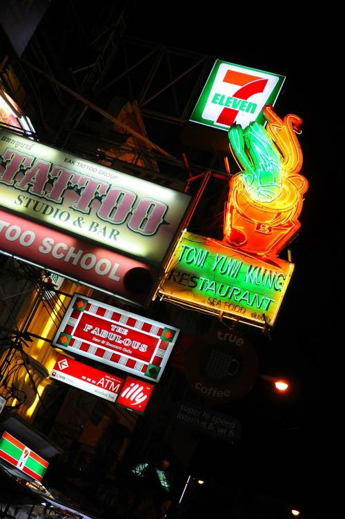 neon signs city