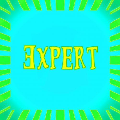 Neon Blue Green Expert Sign