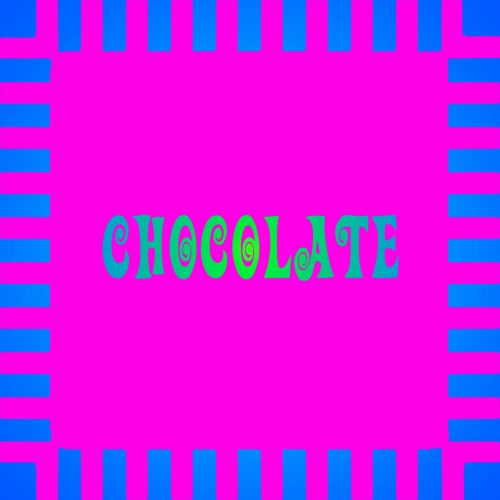 Neon Blue Pink Chocolate Sign