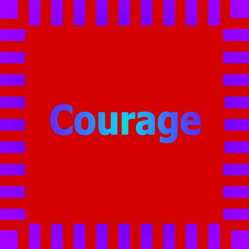 Neon Courage Red Purple Sign