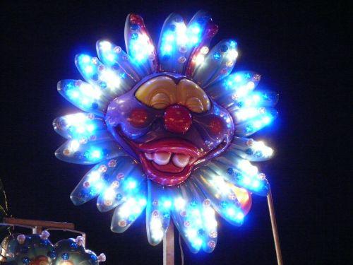 neon light lighting clown