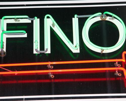 neon sign fino neon