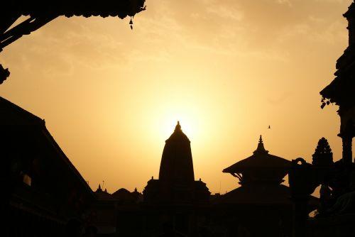 nepal kathmandu evening