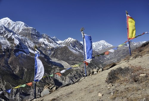 nepal  prayer flags  tre