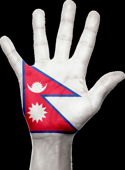 Nepalas,vėliava,ranka,simbolis,ženklas,nepalese,asija,patriotinis,patriotizmas,Šalis