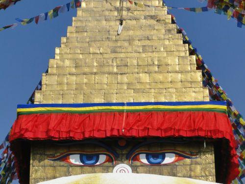 nepal buddha eyes stupa