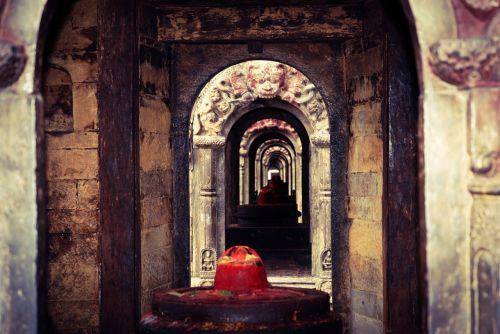 Nepalas,šventykla,perspektyva