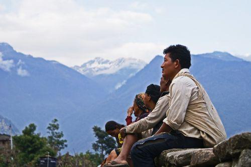 nepal people himalayas