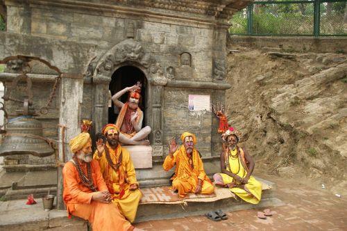 Nepalas,katmandu,šventas žmogus,vietos,žmogus,tradicinis,ritualai,kostiumai,geltona