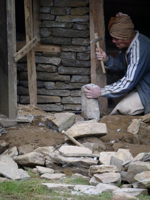 nepali man old man working man