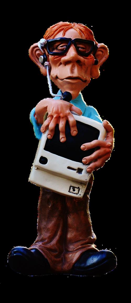 nerd computer figure