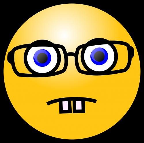 nerd emoticon eyeglasses