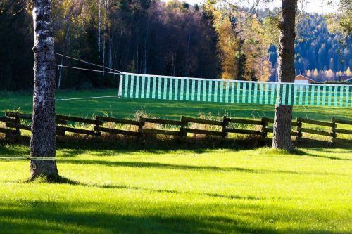 net volleyball net grass