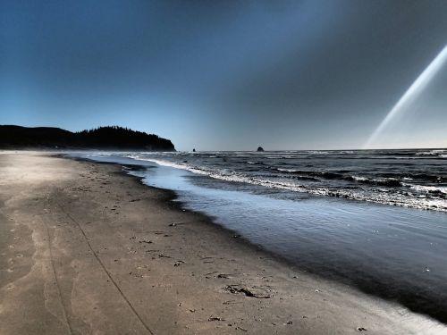 netarts oregon beach pacific ocean