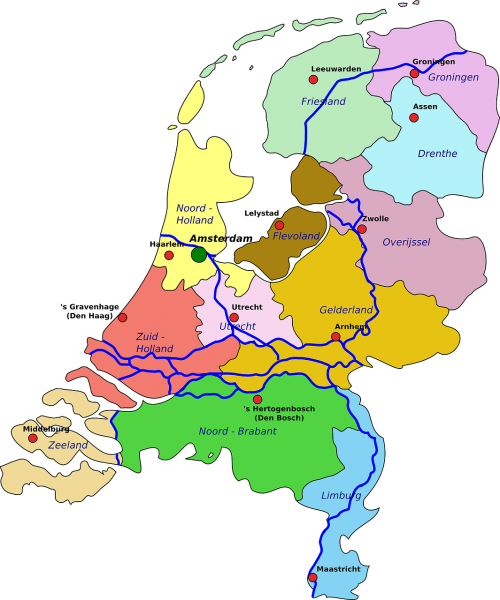netherlands map geography