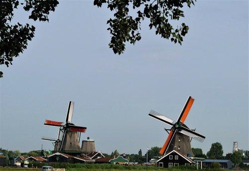netherlands  windmills  amsterdam