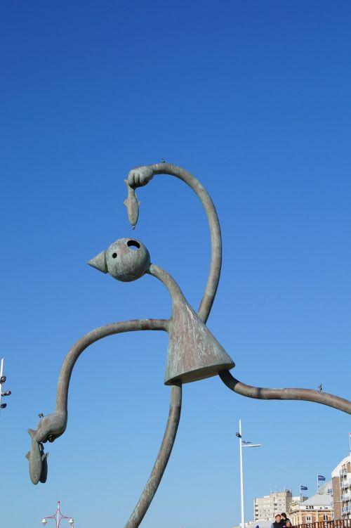 netherlands seaside resort scheveningen figure