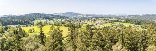 neuschönau  bavarian forest  view