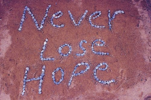 never lost hope hope sand