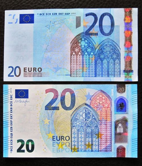 new and old twenties 20 euro front side